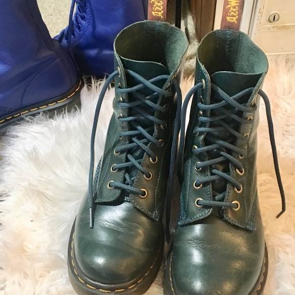 e7960072a221 Dr. Martens Shoes | Dr Martens Green Teal 1460 Pascal Virginia Boots ...